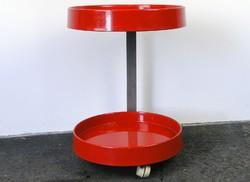 0E680 Retro gurulós piros design körasztal