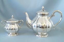 Ezüst teáskanna és cukortartó