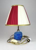 0E645 Antik különleges kalcitüveg asztali lámpa