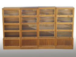 0278 Antik lingel szekrény 4 egyforma sor