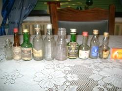 Retro kis üveg palack - tíz darab - gyűjtőknek