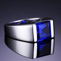 Zafírköves ezüstgyűrű uniszex