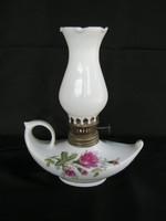 Petróleumlámpa kis méretű rózsás porcelán