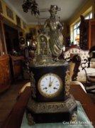 Antik francia kandalló óra (bronz)
