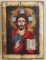 Jézus Pankrátor/ megváltó/ ikon,olaj-tempera-fára