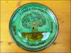 Borbás Irma Csömör Zöldfa vendéglő falitányér