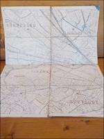 Vászonra kasírozott térkép , Kuruczles , Pasarét , Virányos ...