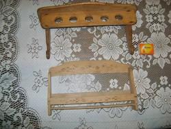 Retro fali fűszertartó, kis polc -  két darab