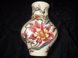Zsolnay  orchideás  váza  gyönyörű kézi festés