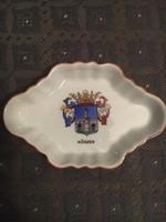 Antik Herendi tálka, történelmi címerrel - Kőszeg