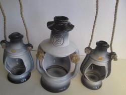 NITTSJÖ híres svéd kerámia petróleumlámpa szett