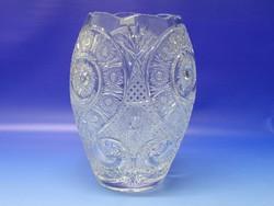 0N438 GATE főiskola Gyöngyös kristály váza 26 cm