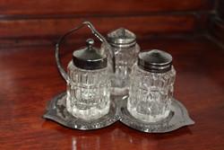 Ezüst színű 3 db-os asztali fűszertartó szett