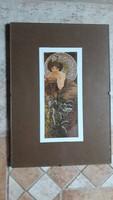 Alfons Mucha: 1 db kép pattintós üvegkeretben