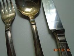 JUGENDSTIL-REKORD 90 (SOLINGEN)-antik ezüstözött alpaka készlet 1 sz