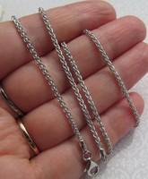 Ródiumozott ezüst nyaklánc - 45 cm hosszú - új ékszer
