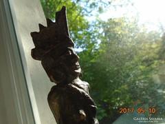 Indián bronz szobor-20 cm