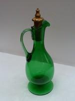 Zöld hutaüveg karaffa, üvegkancsó
