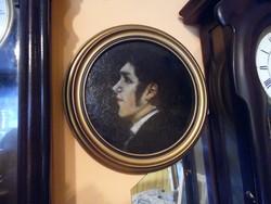 Antik fiú portré. Holló Zsigmod festő m-től.