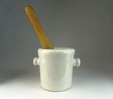 0L483 Antik Drasche porcelán patika mozsár