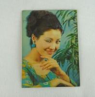 0Z014 3 dimenziós retro kacsintós 3 D képeslap