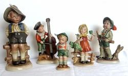 Régi Bertram porcelán figura gyűjtemény 4db