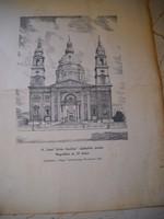 Szent István Bazilika nyomata 1909-ből.