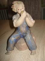 Jelzett kerámia figura (Ráhmer?)