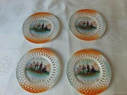 Victoria China, áttört szélű tányér, vintage