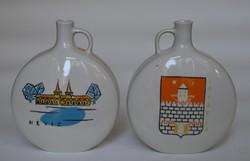 Drasche porcelán Héviz Savaria emlék vázák.