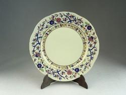 0N519 Bambusz mintás Zsolnay süteményes tányér