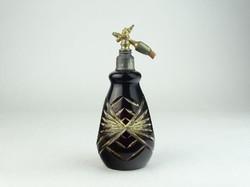 0N474 Régi csiszolt üveg parfümszóró üveg