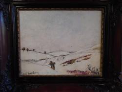 Kotász Károly festménye : Tél c.