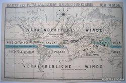 Térkép, Karte zur Physicalischen Erdbeschreibung. Die Winde.