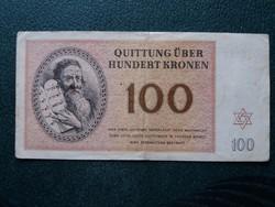 Ritka Theresienstadt 100 korona 1943.