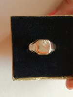 Antik 14k női pecsét gyűrű