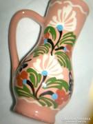 Mezőtúri Kliment kézi festett mázas kis bokály