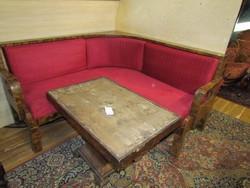 Antik Art-deco sarokülő + asztal
