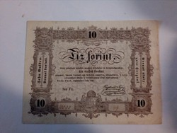 Ritka 10 forint Kossuth bankó
