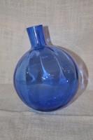 Anyagában kék színű belül bordázott rózsa gömb 02  ( DBZ 0093 )