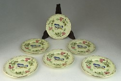0N617 Vajszínű Zsolnay porcelán pillangós tányér 6