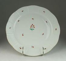 0N674 Régi hecsedlis Herendi porcelán tányér 25 cm