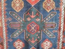 Kazak Gül kézi csomózású antik szőnyeg