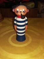Retro tengerész fa figura {popey}