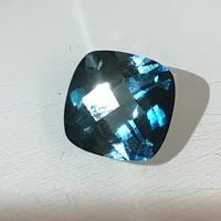 Kék Topáz drágakő gyűrűnek,ékszerhez 3 Ct