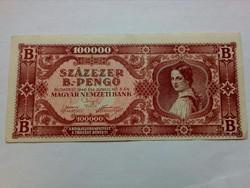 100000 B.- pengő elcsuszot nyomat