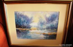 Tarr János : Akvarell 40 x 32 cm kerettel 1934-2021
