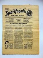 SPORTFOGADÁS1974szeptember8 RÉGI ÚJSÁG