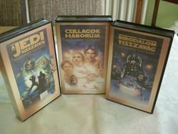 Csillagok háborúja, Birodalom visszavág, Jedi visszatér digitálisan felújított VHS kazetták