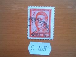 ARGENTÍNA 2 PESOS 1961-69 Jose Francisco de San Martin (1778-1850) C105